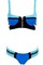 Blue color blocking bikini by dealsforyou