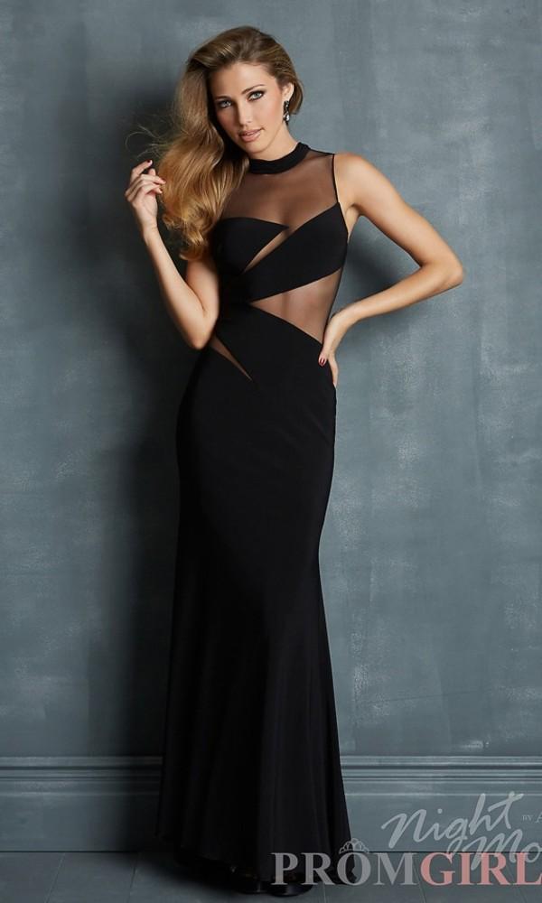 dress black prom long prom dress black dress