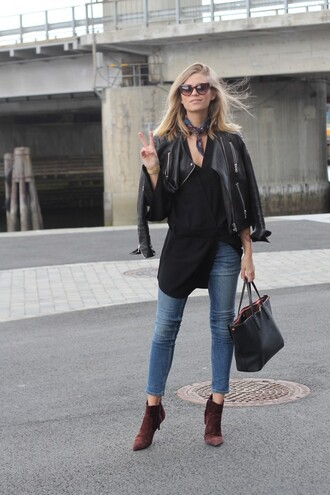 the fashion eaters blogger shoes dress jeans bag sunglasses jacket