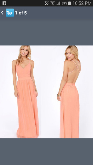 peach cream dress