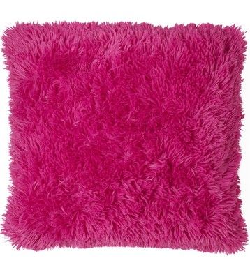 Cuddly hot fuchsia pink shaggy supersoft faux fur cushion cover 45cm x 45cm  on ebay!