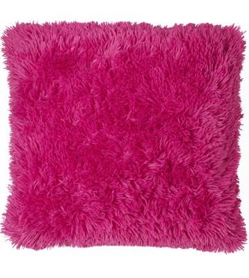 Cuddly hot fuchsia pink shaggy supersoft faux fur cushion cover 45cm x 45cm  on ebay!