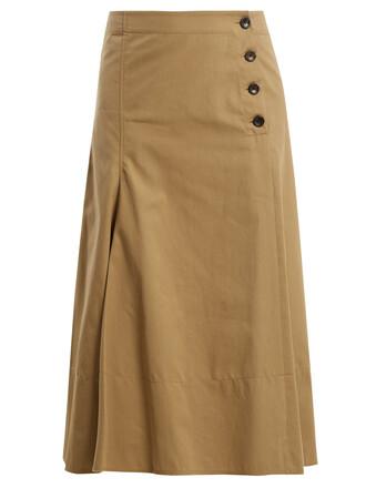 skirt midi skirt midi cotton beige