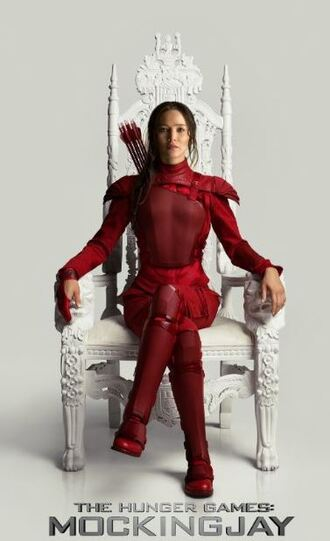 pants red jennifer lawrence the hunger games katniss everdeen chair movie