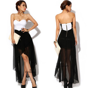 New wrap padded chest open back strapless fish tail cocktail party long dress