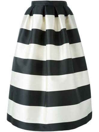 skirt striped skirt nude