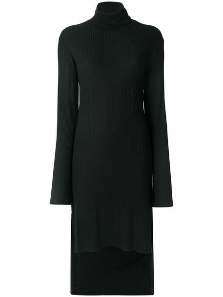 dress high women spandex black