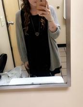 cardigan,wet seal,grey,grey sweater,slouchy sweater