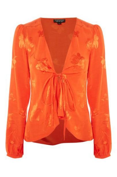 Topshop jacket jacquard orange