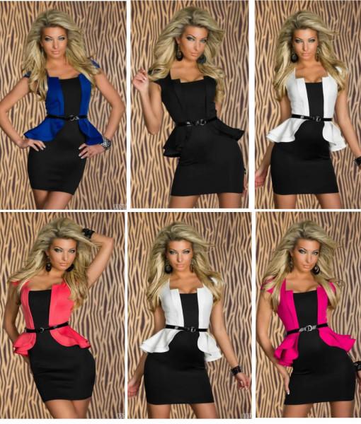 M L XL Plus Size 5 Colors 2014 New Fashion Women Peplum Bandage Dress Sexy Mini Club Dress N126   Amazing Shoes UK