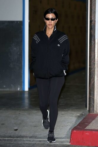 jacket kourtney kardashian sneakers sportswear leggings kardashians