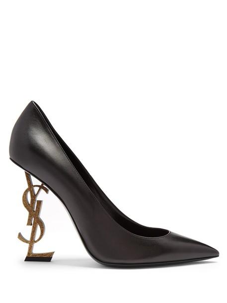 Saint Laurent heel pumps leather black shoes