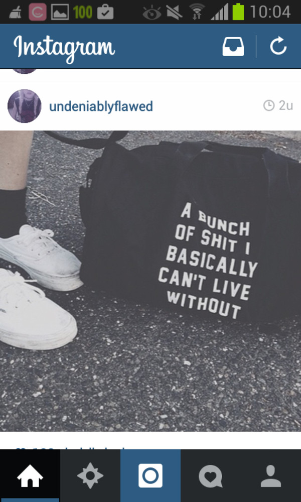 bag saying grunge