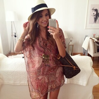 blouse paisley dress shirt tunic tunic dress print sheer transparent shirt red jewels necklace gold jewelry necklaces