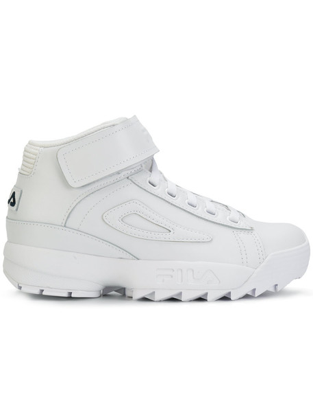 fila women chunky sole sneakers leather white cotton shoes