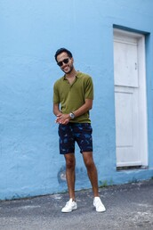 the metro man,blogger,shorts,jewels,shoes,mens t-shirt,menswear,mens shoes,mens shorts,mens sneakers,white sneakers,green,summer outfits