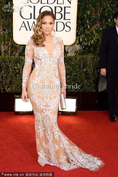 nude jennifer lopez lace dress gown dress