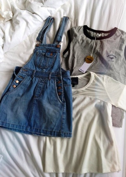 shirt denim dress overalls overall dress denim overalls t-shirts overall skirt jeans