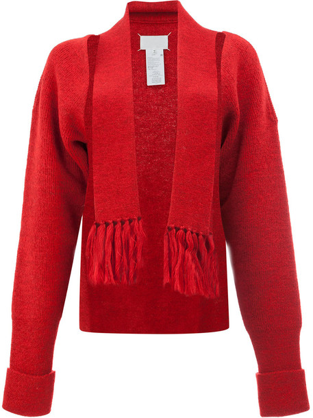 MAISON MARGIELA cardigan cardigan women wool red sweater