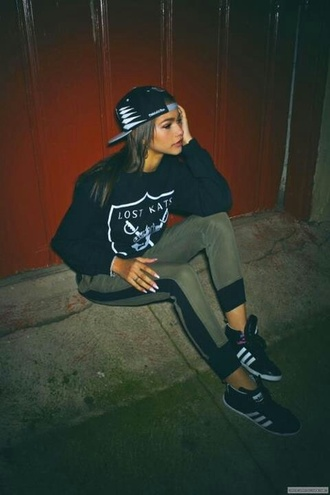 sweater cap snapback trouser trainers sneakers