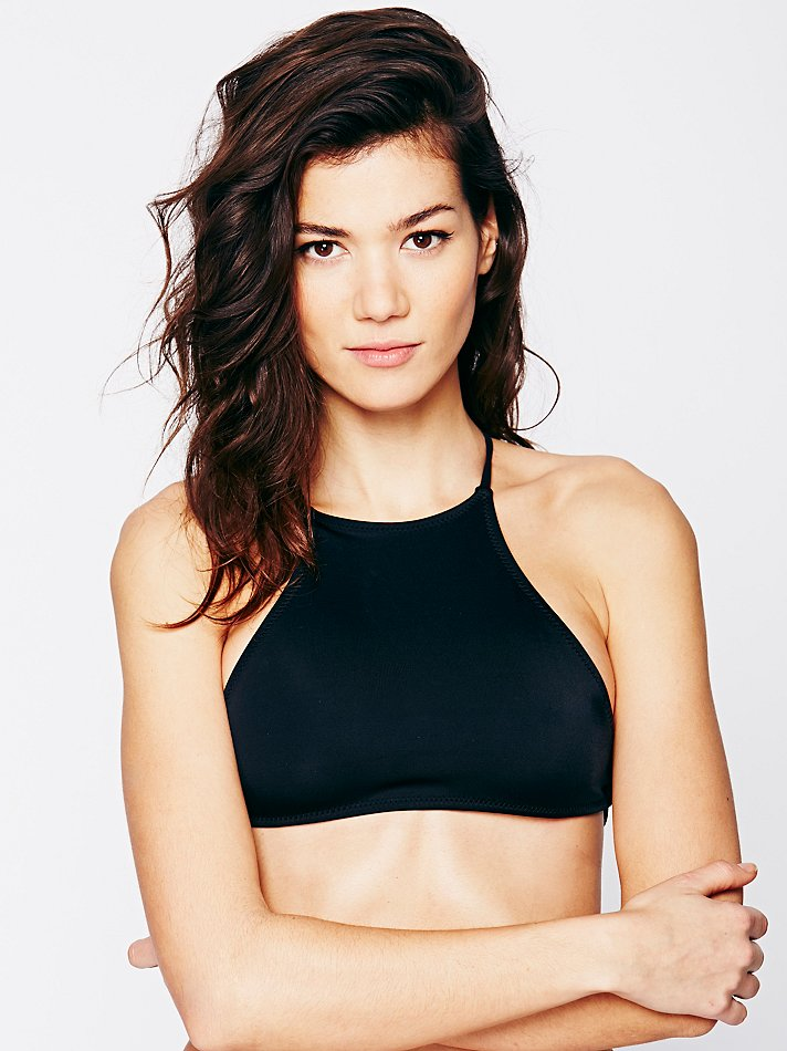 Free People High Neck Crop Top