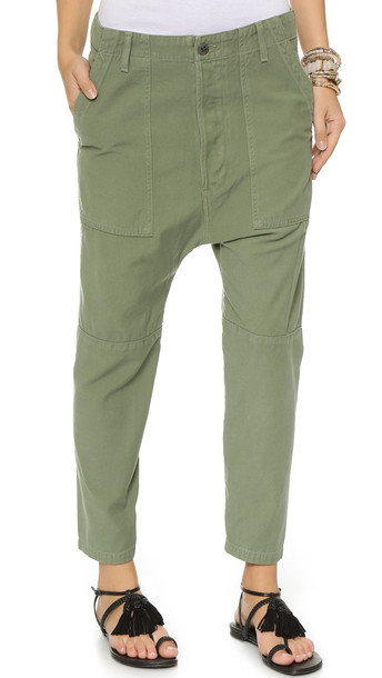 Citizens Of Humanity Premium Vintage Surplus Sadie Utility Pants - Combat Green