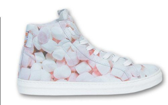 marshmallows sneakers pastel high top sneakers yummy cute pastel sneakers