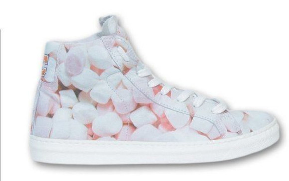 pastel marshmallows sneakers high top sneaker yummy