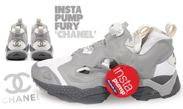 7d48f6c7 shoes, chanel, reebok, chanel x reebok, pump fury - Wheretoget