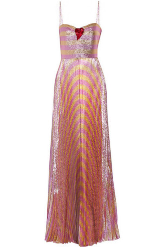 gown embellished pink dress