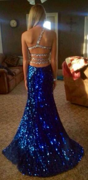 prom dress blue dress sparkle dress prom gown blue prom dresses