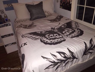 bedding harry styles home accessory white black harry styles tattooo tattoo blanket harry styles tattoo cozy bedroom