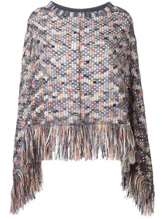 poncho crochet top