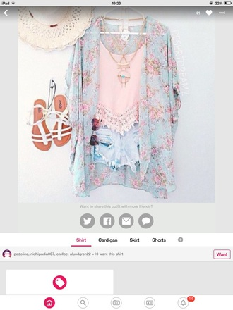 cardigan sky blue kimono floral kimono floral pink summer summer outfits style fashion mint floral kimono fashion kimono top