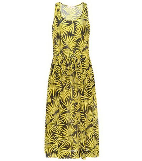 Diane Von Furstenberg dress silk dress cotton silk yellow
