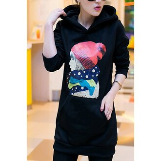 sweater hoodie black black hoodie anime beanie asian streetstyle college winter outfits swag dope hipster winter coat japan japanese fashion korean fashion