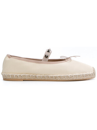 women espadrilles leather nude cotton shoes