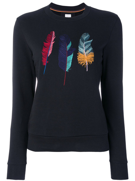 Paul Smith sweatshirt embroidered women cotton black sweater