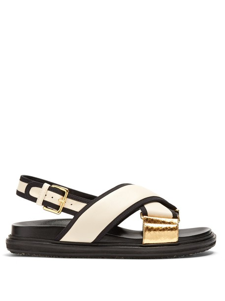 MARNI sandals leather sandals leather white shoes