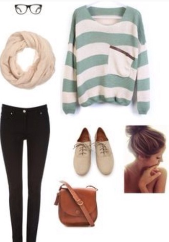 sweater outfit style scarf outfit idea