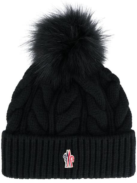 beanie pom pom beanie black knit hat