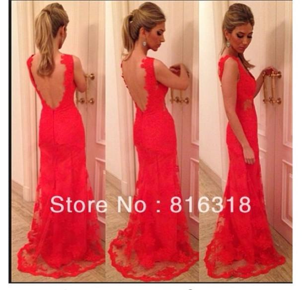 dress red, lace, prom, debs, grad, evening, dress, long edit tags
