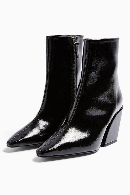 Valencia Vegan Black Western Boots - Black