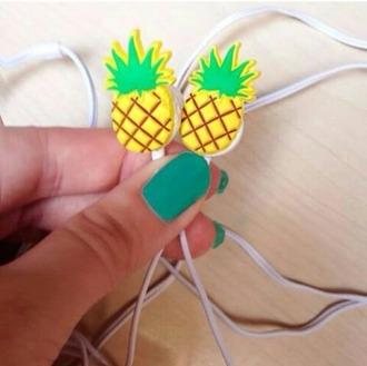 earphones pineapple headphones