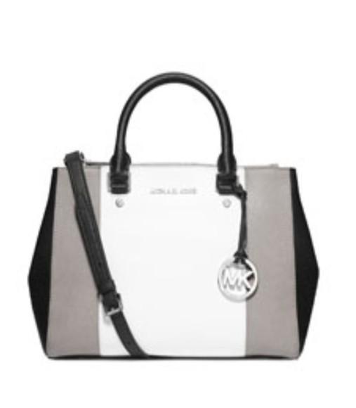 grey bag michael kors handbag school bag black and white
