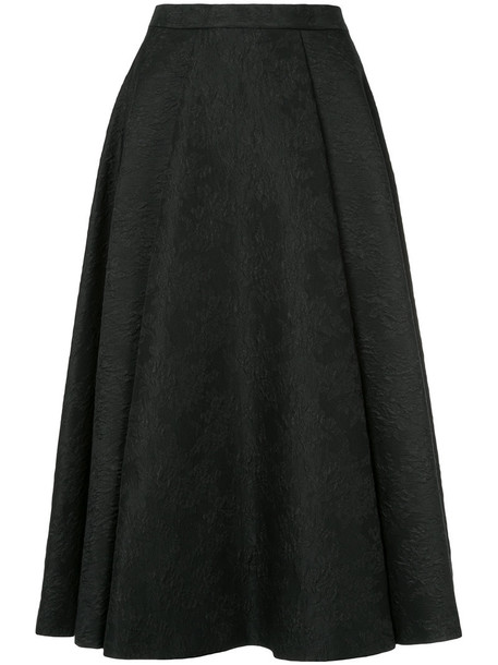 Le Ciel Bleu skirt women jacquard black silk