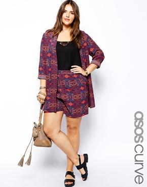 ASOS Curve | ASOS CURVE Exclusive Tailored Short In Festival Print at ASOS