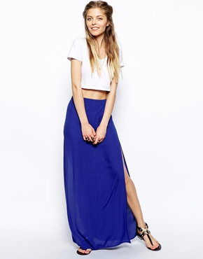 ASOS | ASOS Maxi Skirt In Cheesecloth at ASOS