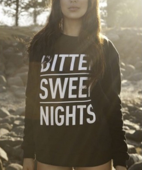 sweater black and white pullover white text black sweater simple grunge soft grunge indie crewneck