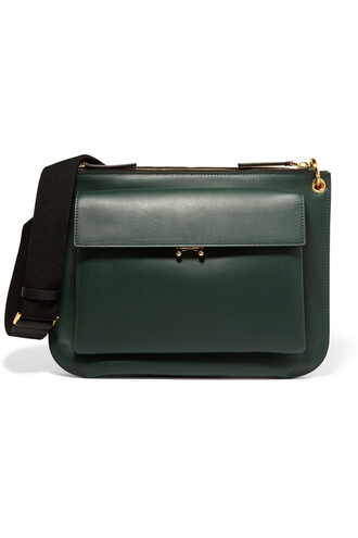 bag shoulder bag leather forest green forest green